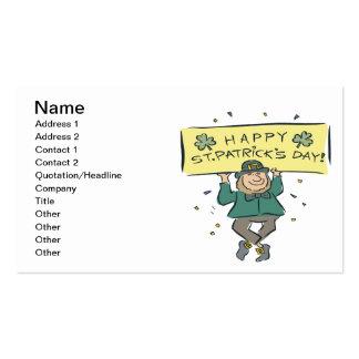 Glückliches St. Patricks Day Visitenkarten Vorlagen