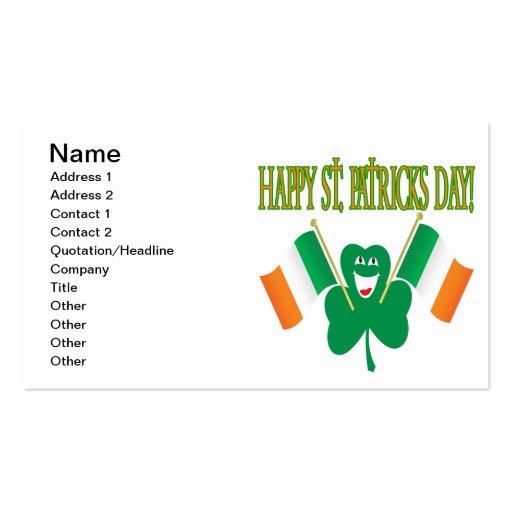 Glückliches St. Patricks Day Visitenkarte