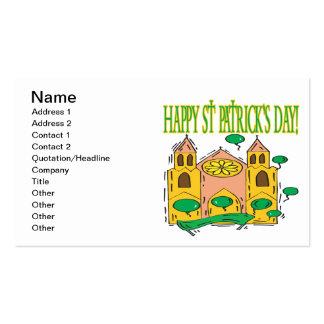 Glückliches St. Patricks Day Visitenkartenvorlage