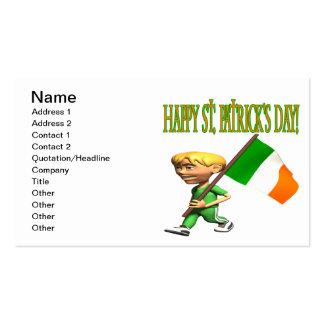 Glückliches St. Patricks Day Visitenkarten