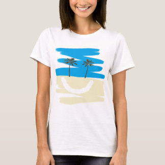 Glückliches Strand-T-Stück T-Shirt