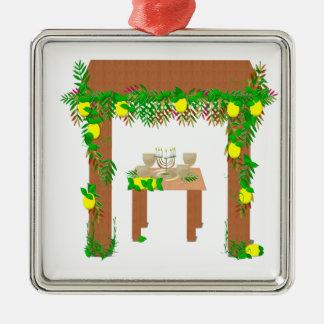 Glückliches Sukkot Silbernes Ornament