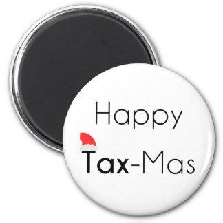 Glückliches TaxMas Runder Magnet 5,7 Cm