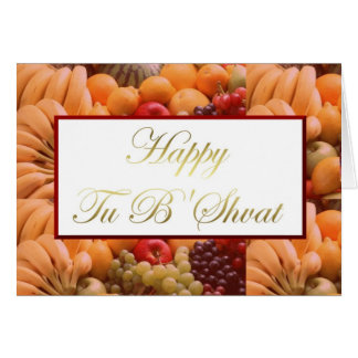 Glückliches Tu B'Shvat Tu bishvat jüdischer Karte