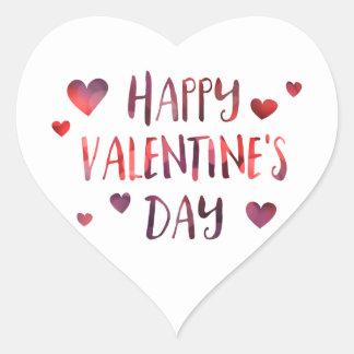 glückliches Valentinstag bokeh Herz-Aufkleber