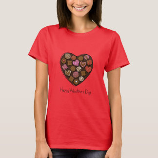 Glückliches Valentinstag-Süßigkeits-Herz T-Shirt