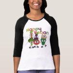Glückliches veganes t-shirt