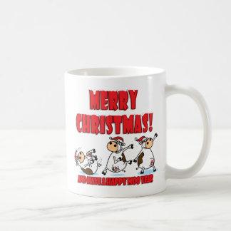 Glückliches Weihnachten Breakdancing Kaffeetasse