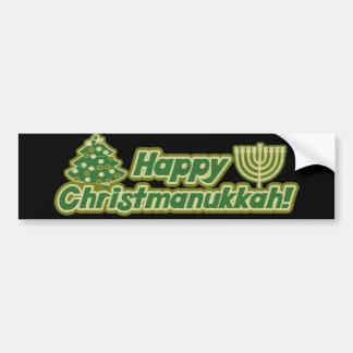 Glückliches Weihnachten Chanukka Kwanzaa Autoaufkleber