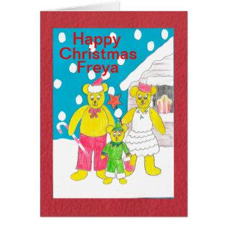 Glückliches Weihnachten Freya Karte