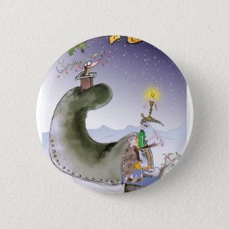 glückliches Weihnachten Liebeyorkshires Runder Button 5,1 Cm