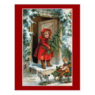 Glückliches Weihnachten Postkarten