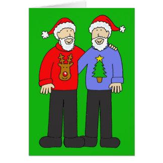Glückliches Weihnachten zwei homosexuelle Männer Karte