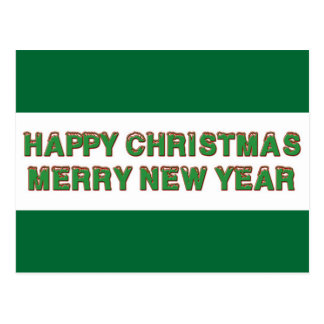 Glückliches Weihnachtslinie Postkarte