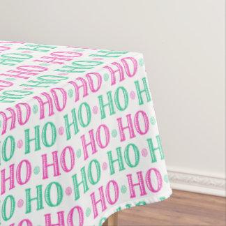 Glückliches Weihnachtsmorgen Ho Ho Ho Sankt Tischdecke