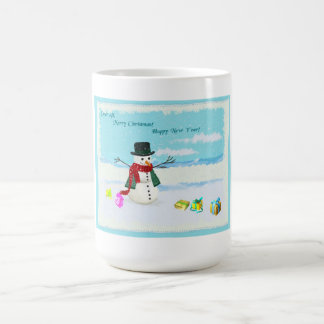 Glückliches WeihnachtsTasse Tasse