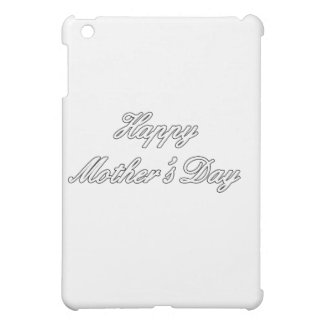 Glückliches Weiß der Mutter Tagesdie MUSEUM Zazzle Hüllen Für iPad Mini
