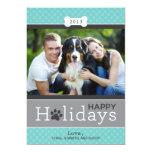 Glückliches Welpen-Hundethema der Personalisierte Ankündigungskarten