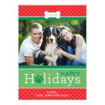 Glückliches Welpen-Hundethema der Ankündigungskarten