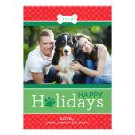 Glückliches Welpen-Hundethema der Feiertags-Foto-K Ankündigungskarten