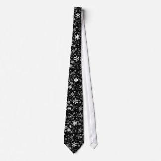Glückliches Winter-Schneeflocke-Muster für jeder Personalisierte Krawatte