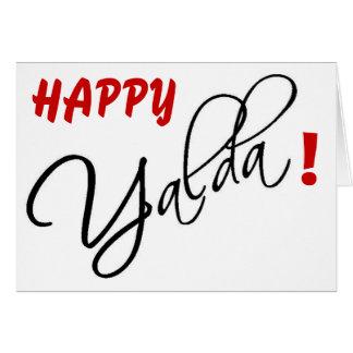 Glückliches Yalda Grußkarte