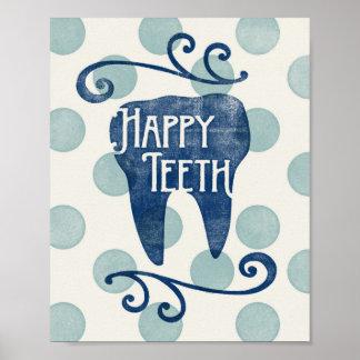 Glückliches Zahn-Plakat-zahnmedizinischer Poster