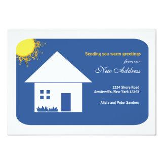 Glückliches Zuhause-neue Adressen-Mitteilung 12,7 X 17,8 Cm Einladungskarte
