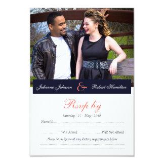 Glückliches zusammen | Foto-Hochzeit UAWG 8,9 X 12,7 Cm Einladungskarte