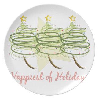 Glücklichste Feiertage Teller