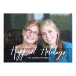 Glücklichste Feiertags-modernes volles Foto - Individuelle Ankündigskarten
