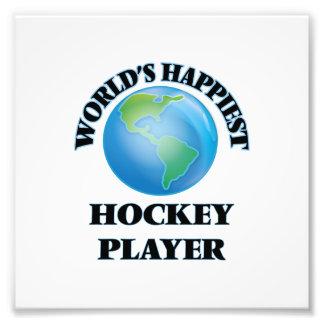 Glücklichster das Hockey-Spieler der Welt Foto