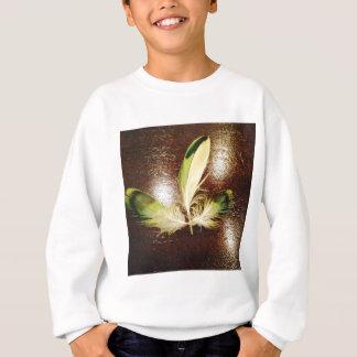 Glücks Federn...auf Holz Sweatshirt