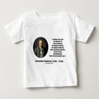 Glücks-Vorteils-Zitat Benjamin Franklins Baby T-shirt