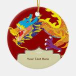 Glücksbringer-Chinese-Drache Weihnachtsbaum Ornament