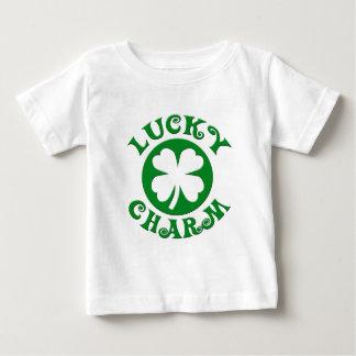 Glücksbringer-grüner/weißer Kreis Baby T-shirt
