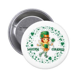 Glücksbringer. St Patrick Tagesgeschenk-Knöpfe Buttons