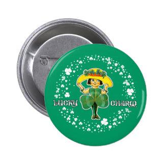 Glücksbringer. St Patrick Tagesgeschenk-Knöpfe Runder Button 5,7 Cm