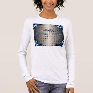 Glückseliges Elend: Damen-lange Hülse (angepasst) Langarm T-Shirt