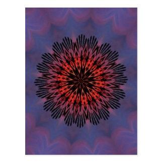 Glückseliges Morgen-Sonnenaufgang-Kaleidoskop Postkarte