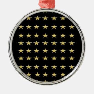 Glücksstern-Schwarzes mit Goldstern-Entwurf Silbernes Ornament