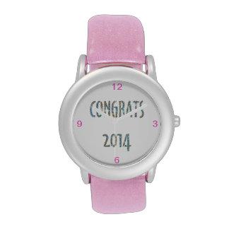 Glückwunsch 2014-Glitter Uhr