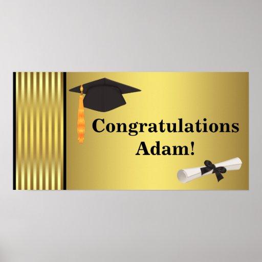Glückwunsch-Abschluss-Fahnen-Plakate