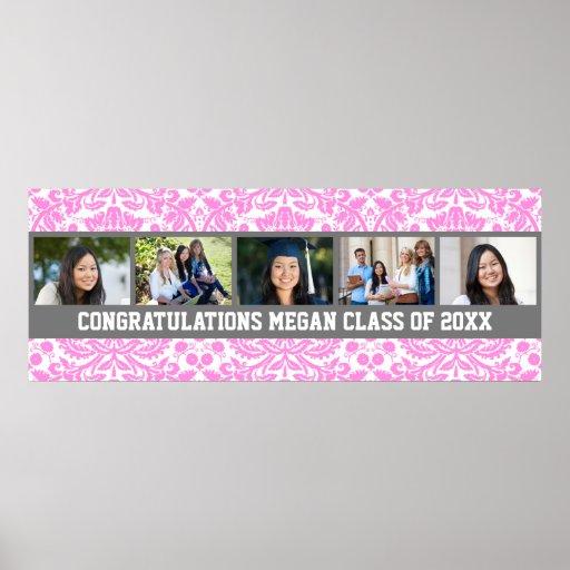 Glückwunsch-Abschluss-kundenspezifische Foto-Fahne Posterdrucke