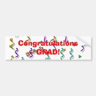 Glückwunsch-Absolvent-Autoaufkleber Autoaufkleber
