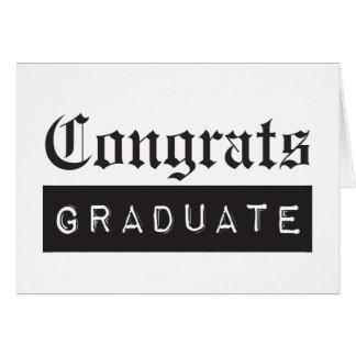 Glückwunsch-Absolvent Karte