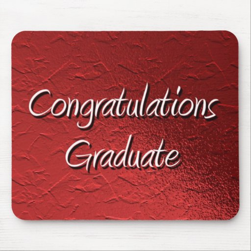 Glückwunsch-Absolvent Mousepad