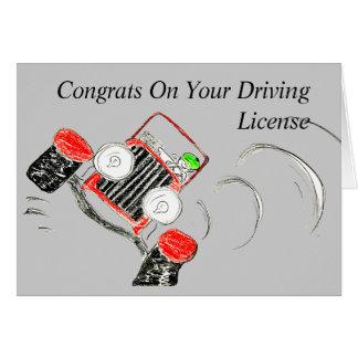 Glückwunsch auf Ihrem Führerschein Karte