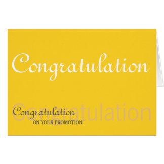 Glückwunsch auf Ihrem Werbeaktion-Gelb Grußkarte