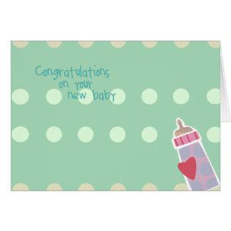 Glückwunsch auf Ihren neuen Baby-Karten Karte